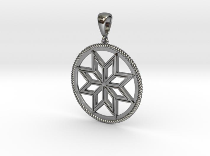 Alatyr pendant amulet 3d printed