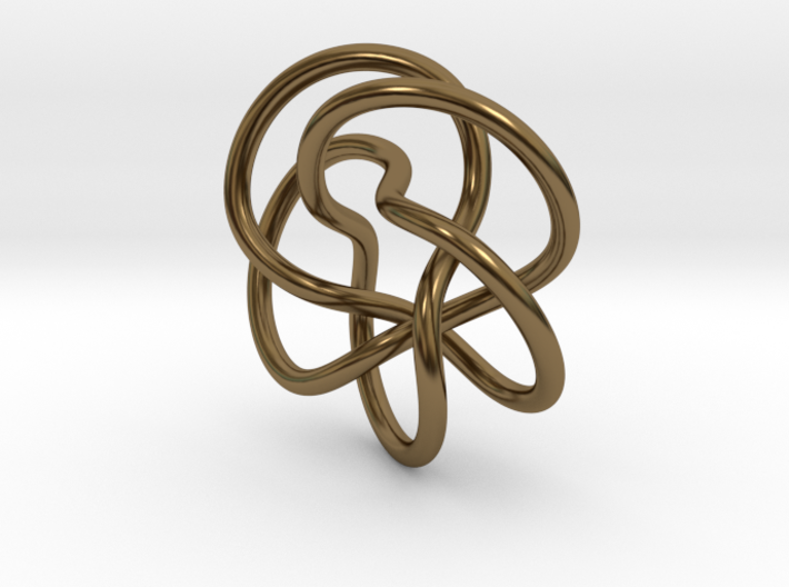 Tubular Torus Knot Pendant 3d printed