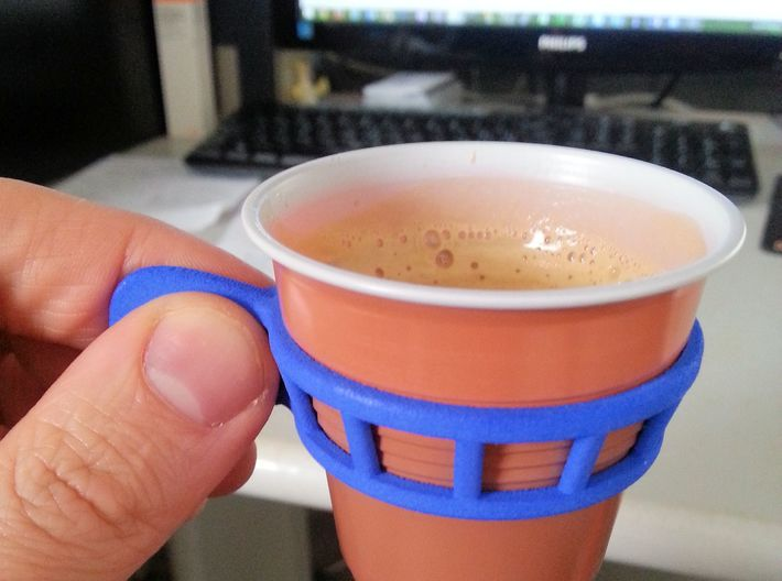 Espresso cup holder 3d printed My coffee at office with style!
