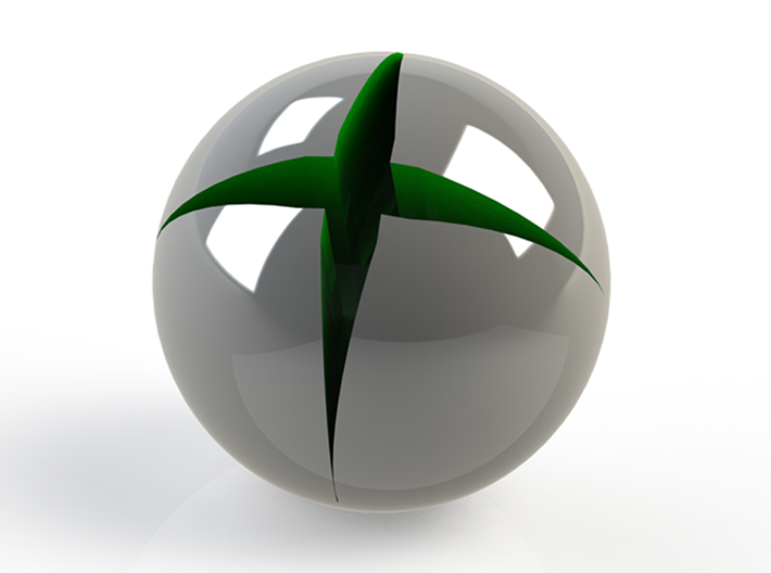 Xbox Logo Paperweight 3d printed