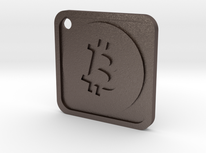 Keychain with Bitcoin Logo 3d printed