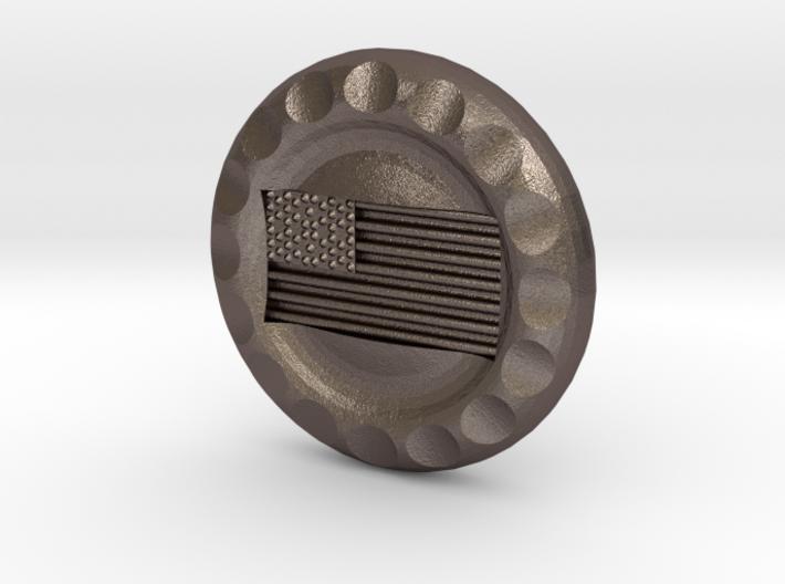 Golf Ball Marker USA Flag 3d printed
