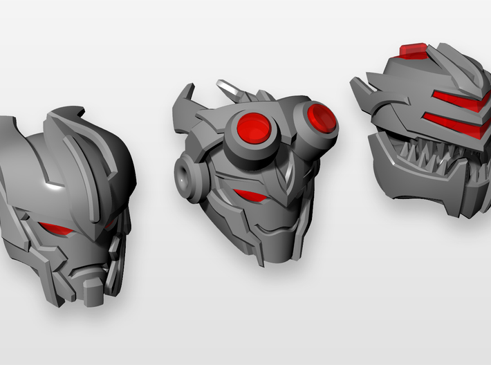 D.R.E.A.D three heads 3d printed