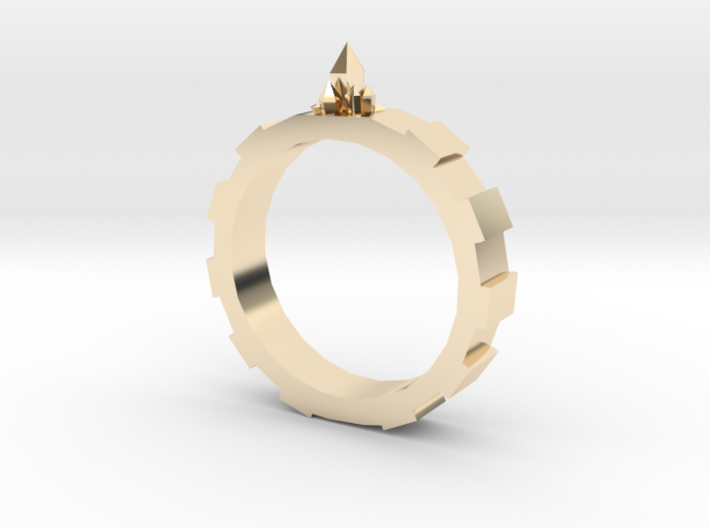 Gem-gear Ring 3d printed