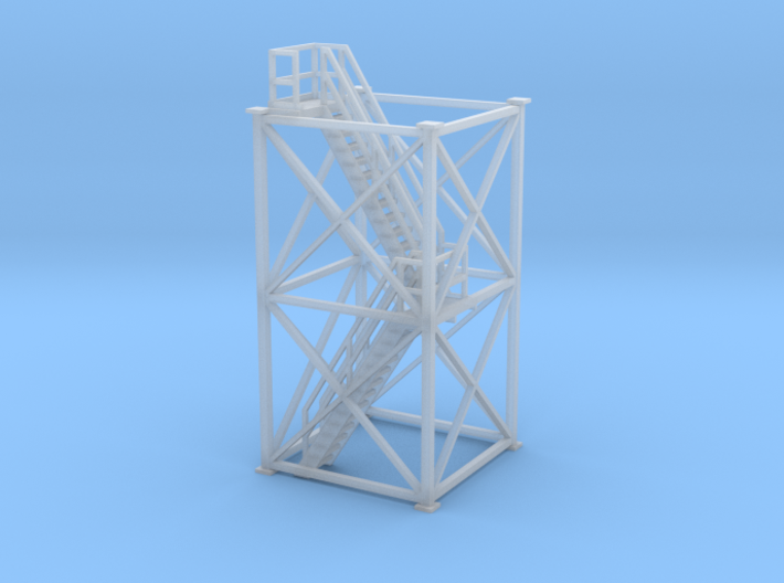 'HO Scale' - 10 Ft x 10 Ft x 20 Ft Tower With Stai 3d printed