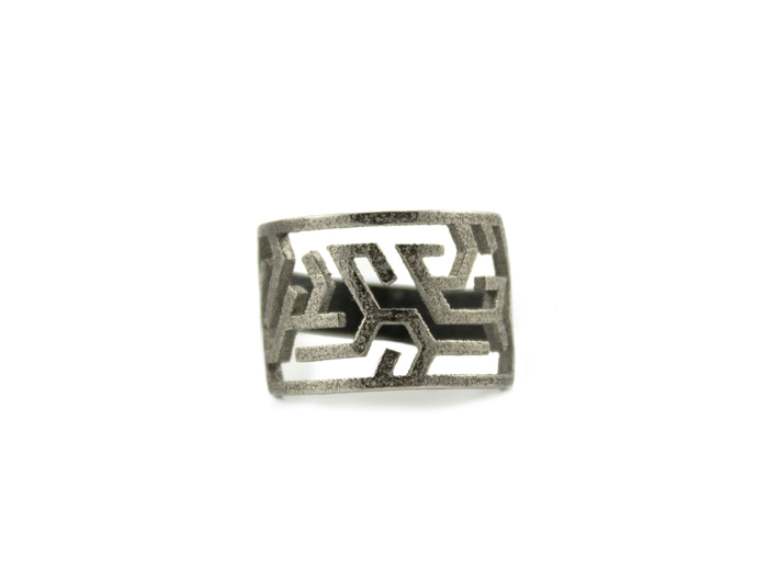 Maze Delta Ring size US6  3d printed