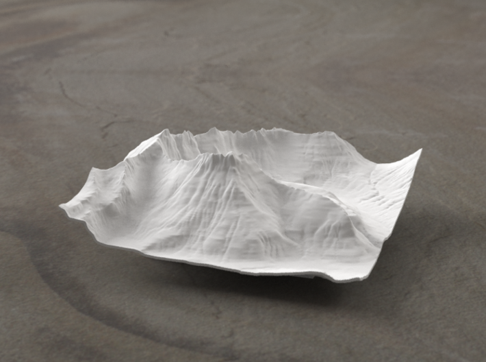 4'' Mt. Wilbur Terrain Model, Montana, USA 3d printed Radiance rendering
