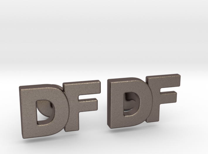 Monogram Cufflinks DF 3d printed