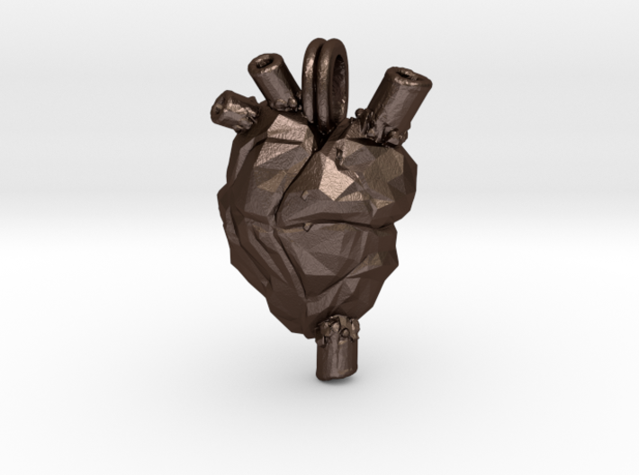 Anatomical Heart Jewelry Necklace 3d printed