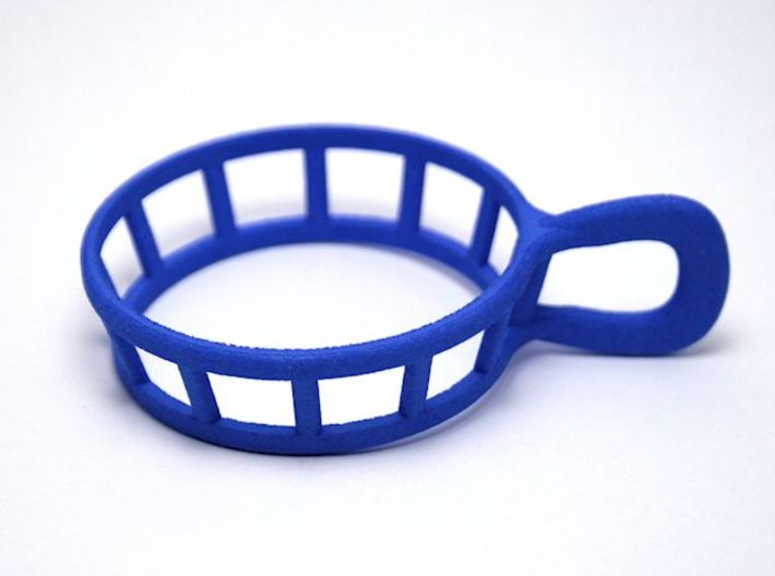 Espresso cup holder 3d printed A photo of my wonderful espresso cup holder printed in blue strong & flexible