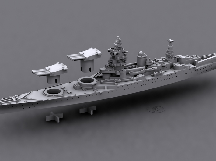 1/1800 MN BC Dunkerque [1940] 3d printed Computer software render