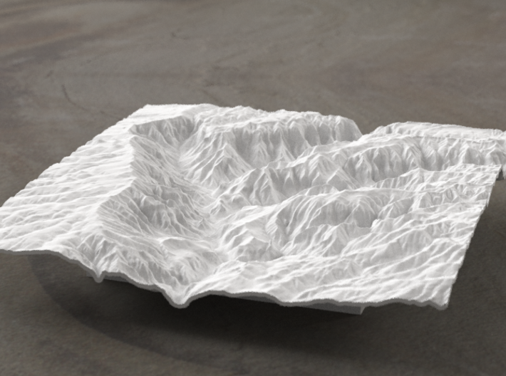 6'' Waimea Canyon Terrain, Hawaii, USA 3d printed Radiance rendering
