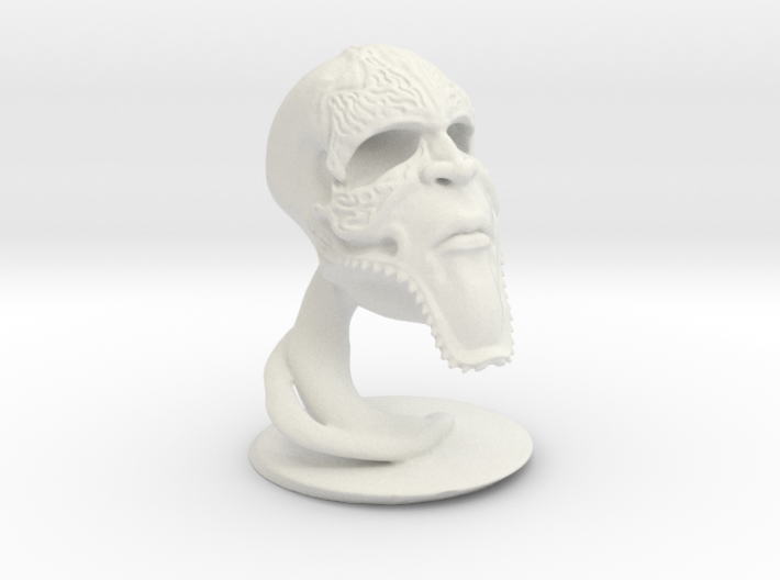 Wormskull 3d printed