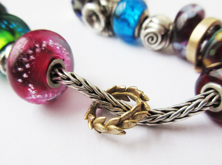 Laurel crown charm, Trollbeads compatible 3d printed