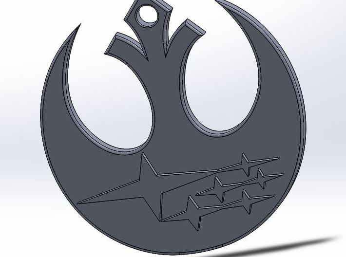 Rebel Subaru Key Chain 3d printed