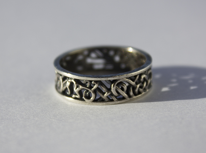 Viking Ring - size 10 1/2 (20.22mm) 3d printed