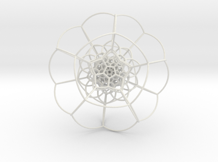 120-Cell on Hypersphere, Stereographic Projection 3d printed