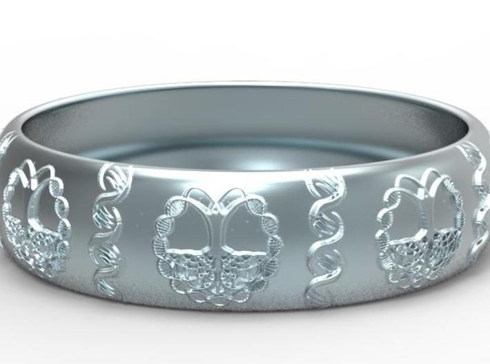 Tree of life DNA men's ring size 10 3d printed