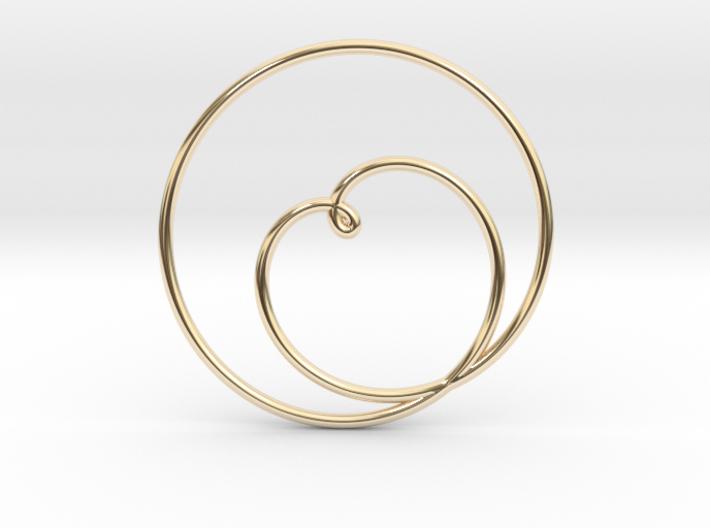 Heart Circular Pendant 3d printed