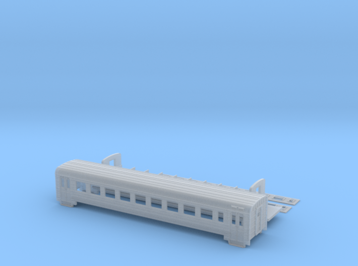 ER 2 railcars without driving for N scale 1:160 3d printed