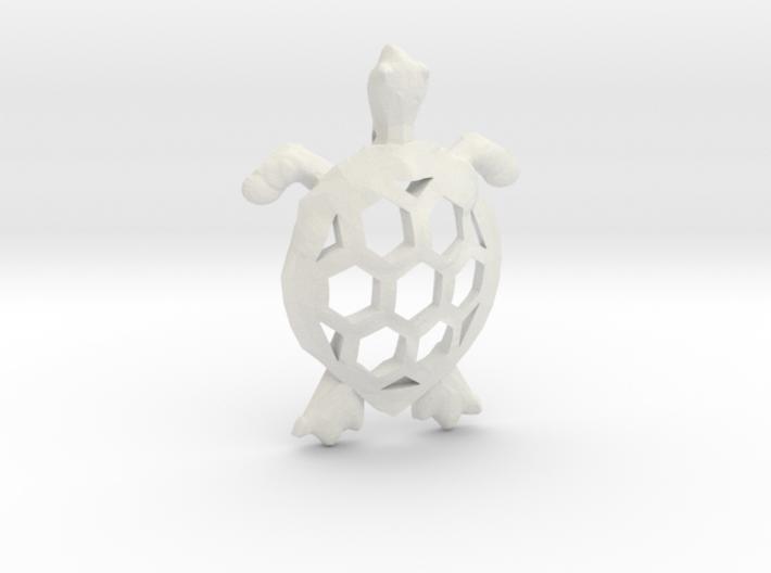 Cosmic Turtle Pendant 3d printed