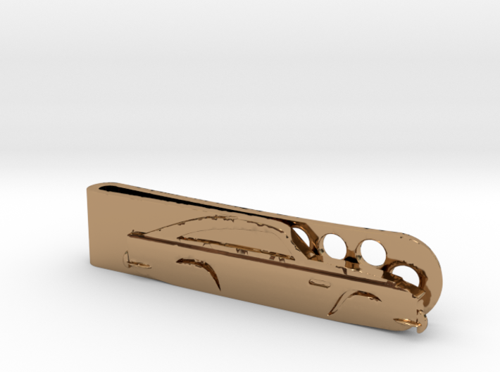 Aston Martin DB5 (1965) Money Clip - Polished Bras 3d printed