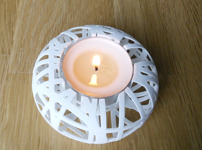'Tangle' Tealight Holder 3d printed