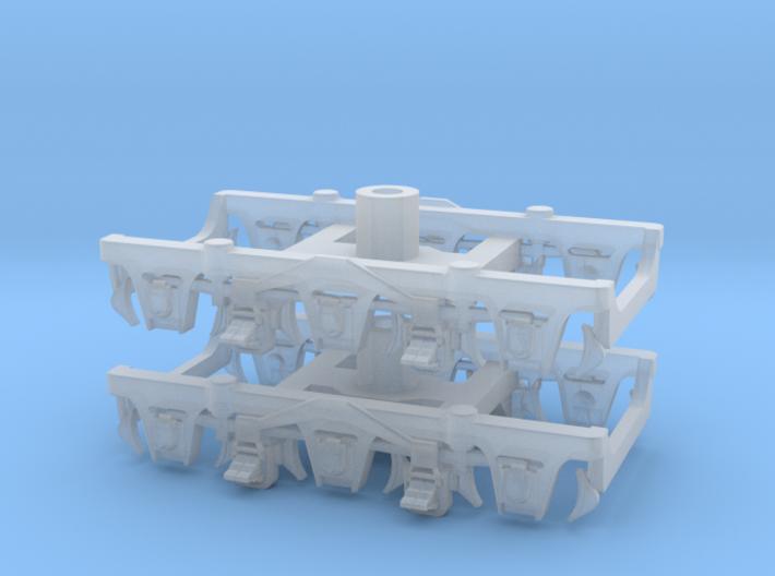 1 pair top-equalized trucks, OSB/PAB (1/160) 3d printed