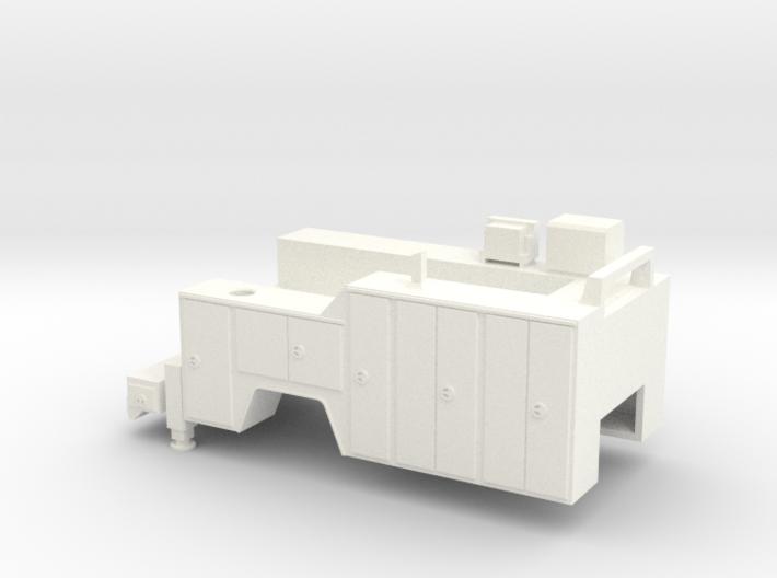 1/64 Service Truck Body (No Crane) (S Scale) 3d printed
