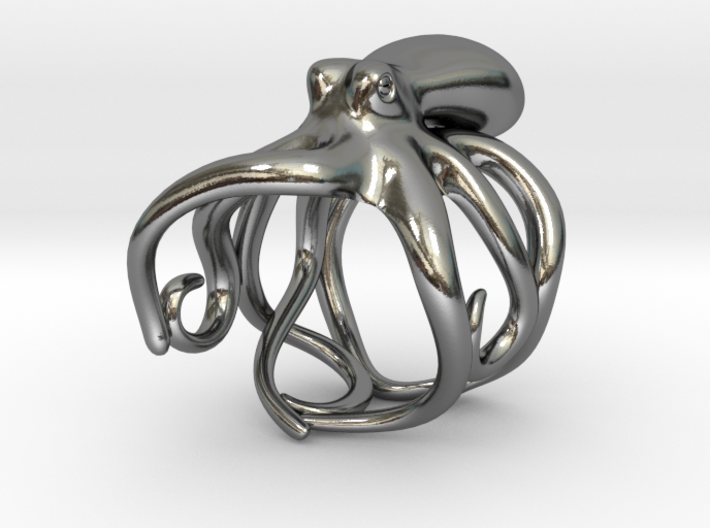 Octopus Ring 19mm 3d printed