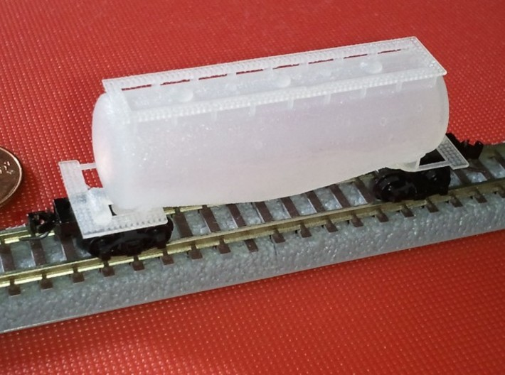 Whale Belly Tank Car - Zscale 3d printed