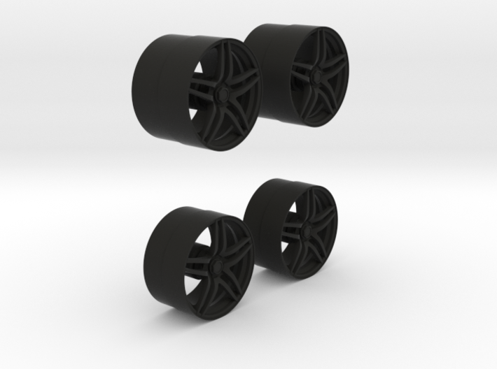 VS01- Front & Rear ADVAN model 5 Rims 3d printed