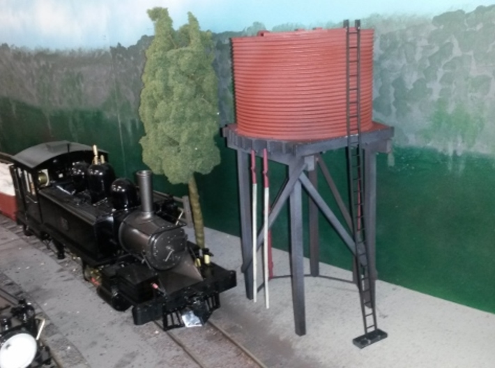 Victorian Railways 16mm scale Gould Water Tank 3d printed Na engine requirements