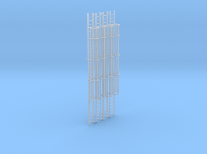 'HO Scale' - (4) 30' Caged Ladder 3d printed