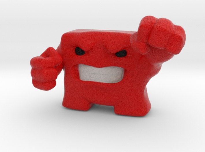Super Meat Boy 3d printed