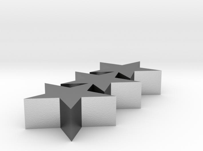 TripleStar Pendant 3d printed