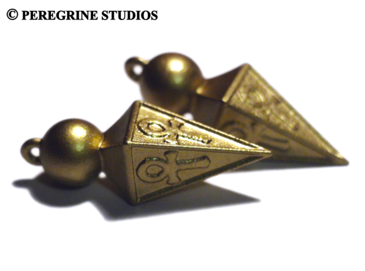 Cosplay - Ishtar Earrings 3d printed White Strong and Flexible Plastic (Painted)