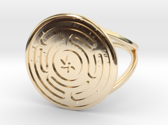 Wheel of Hecate ring (choose size) 3d printed