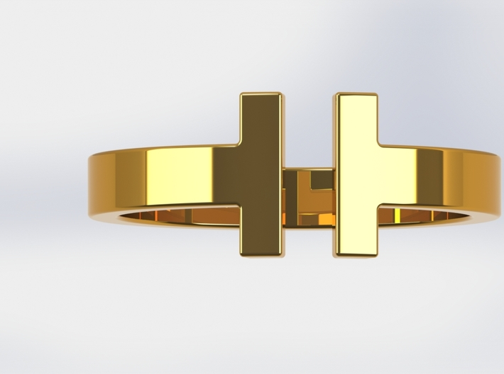 IT Ring 3d printed Gold
