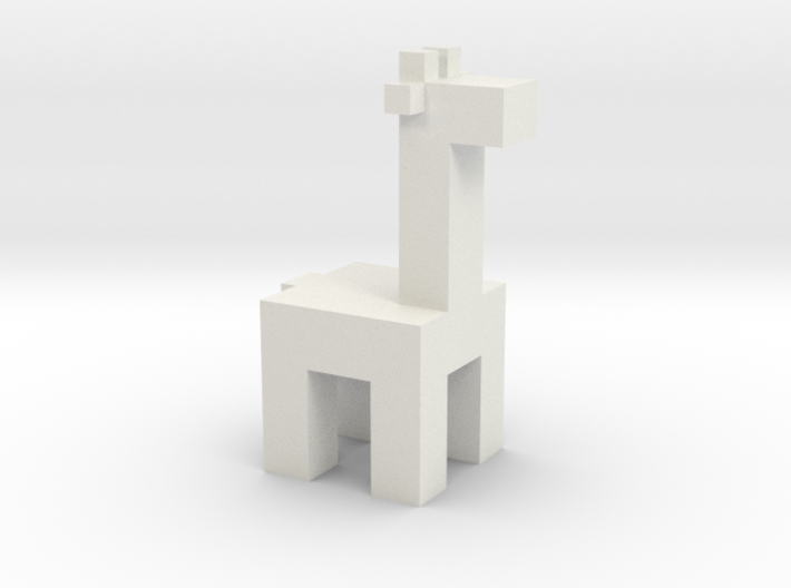 Squared Giraffe 3d printed Minimal Giraffe loves simplicity and mini-animalism