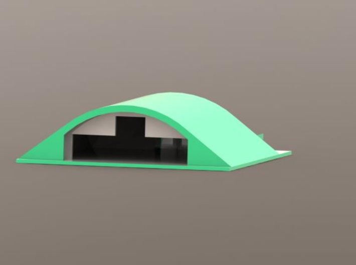 HAS Hardened Aircraft Shelter 1/700 3d printed Add a caption...
