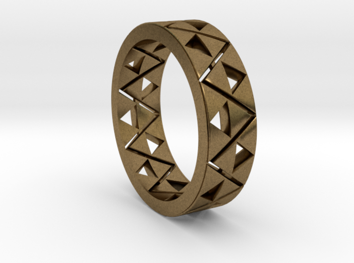 Triforce Ring Size 11.5 3d printed