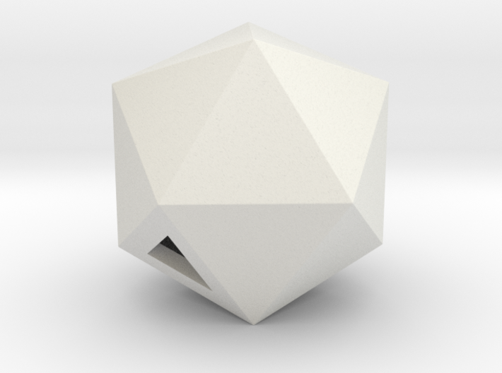 Icosahedron - small / hollow 3d printed