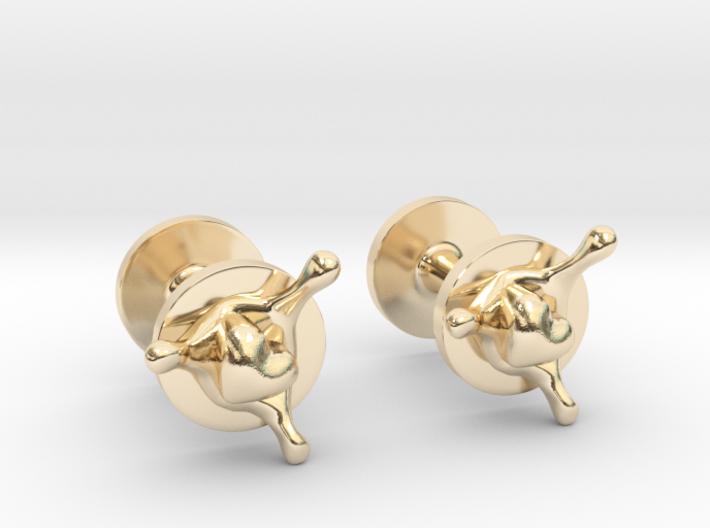 LoveSplash cufflinks 3d printed