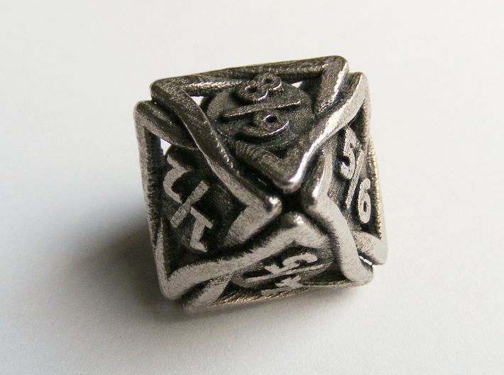 'Twined' Dice D8 Spindown Tarmogoyf P/T Die 3d printed