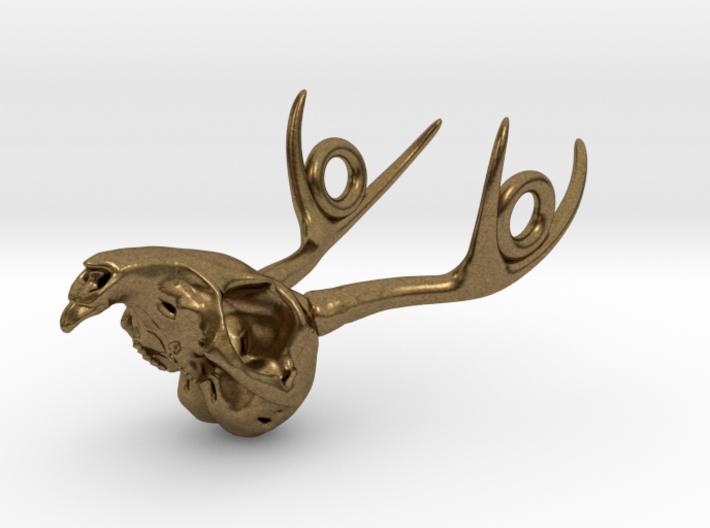 Jackalope Skull Pendant 3d printed