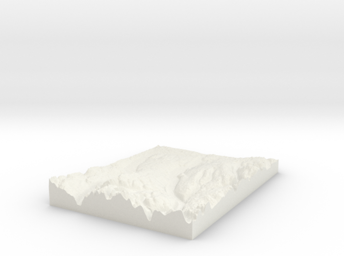 Finger Lakes, NY: Topophile Model #0042 3d printed