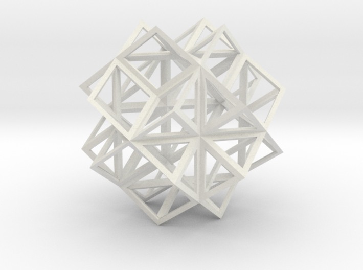 Rhombic Dodecahedron Stellation 2 3d printed