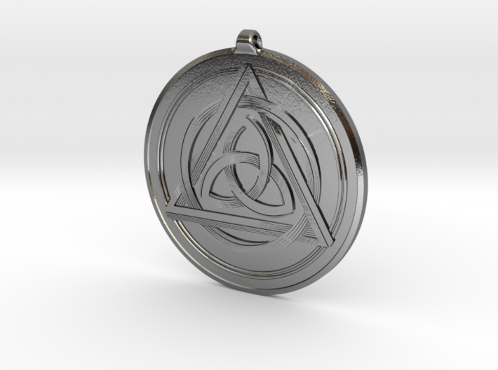 Doublesided Celtic Knot Pendant ~ 44mm(1 3/4 inch) 3d printed