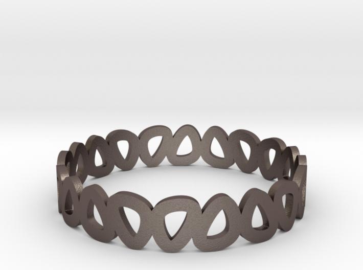 Pebble Bangle Bracelet 3d printed